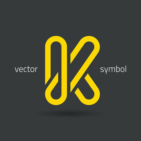 letter k: Vector graphic decorative design alphabet  letter K  symbol