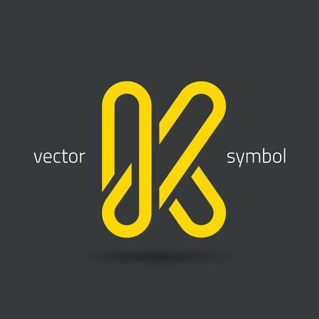letter background: Vector graphic decorative design alphabet  letter K  symbol
