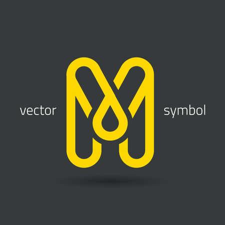 m: graphic decorative design alphabet  letter M  symbol