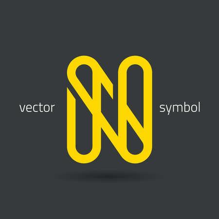 letter n: graphic decorative design alphabet  letter N  symbol