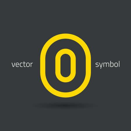 cocao: graphic decorative design alphabet  letter O  symbol Illustration