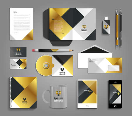 stationery: Classic and professional stationery template design for your company Illustration