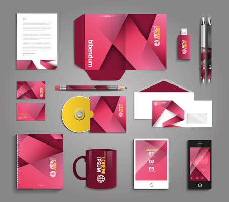 catalog: Classic and professional stationery template design for your company Illustration