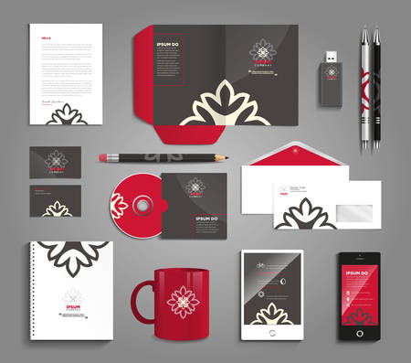 stationary: Classic and professional stationery template design for your company Illustration