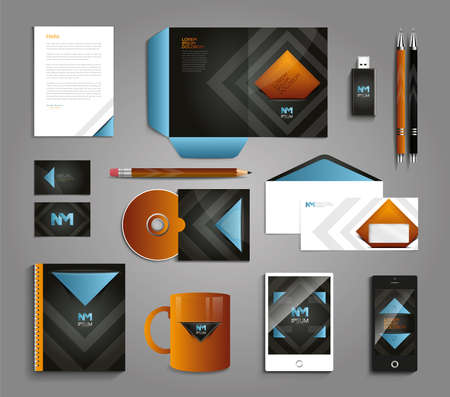 for the design: Classic and professional stationery template design for your company Illustration