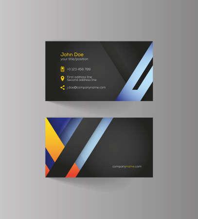 colo: Business card design idea for your company