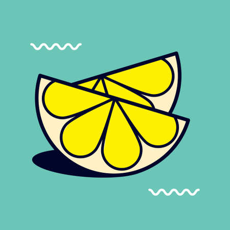 proper: Funny and cheerful icon illustration of mixed objects