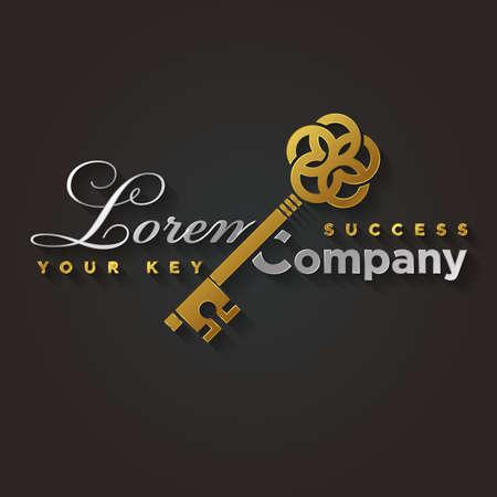 あなたの会社の黄金の鍵の記号の例