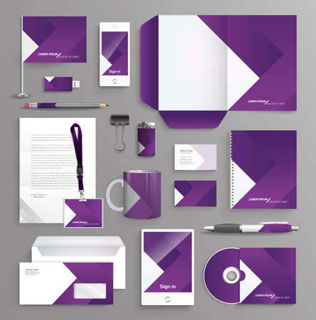 stationary set: Corporate identity business set with different objects