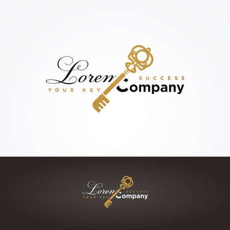 golden key: Illustration of a golden key symbol for your company Illustration