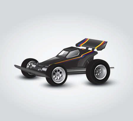 carefully: Carefully designed illustration of a toy car Illustration