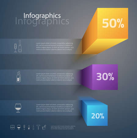 carefully: Carefully designed illustration of infographics elements