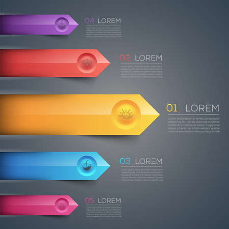 with sets of elements: Carefully designed illustration of infographics elements