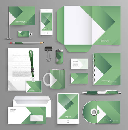 Corporate identity business set with different objects