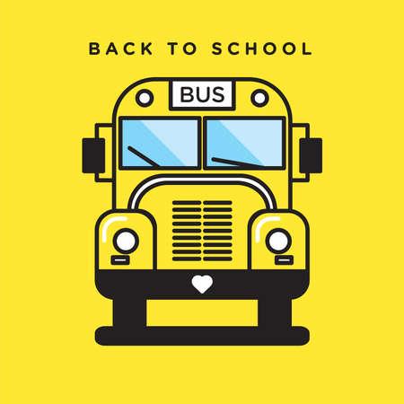 autobus escolar: Ejemplo lindo de varios objetos en un mínimo de estilo, icónica