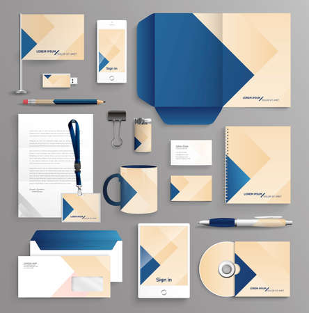 stationary: Corporate identity business set with different objects