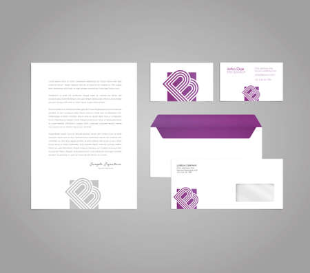 Identity template idea with typographic elements Illustration