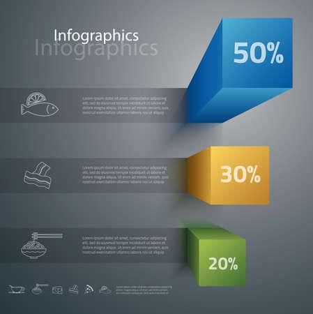 graficas: Ilustración diseñada cuidadosamente de infografías elementos