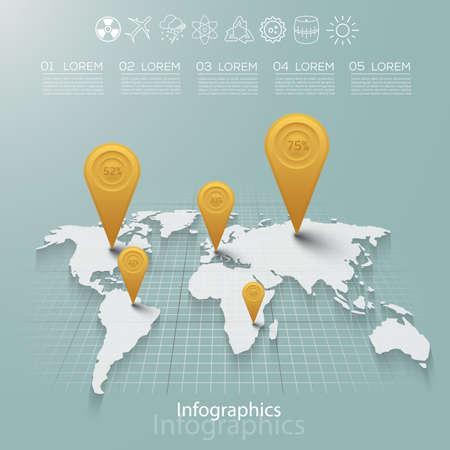 Carefully designed illustration of infographics elements