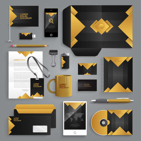 envelopes: Vector graphic professional identity design for your company in vibrant colors Illustration