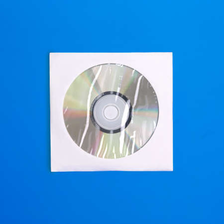rewritable: Compact disc in case view from above on colored background