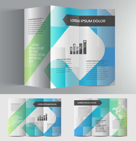 abstract banners: Vector graphic elegant business brochure design for your company invibrant colors