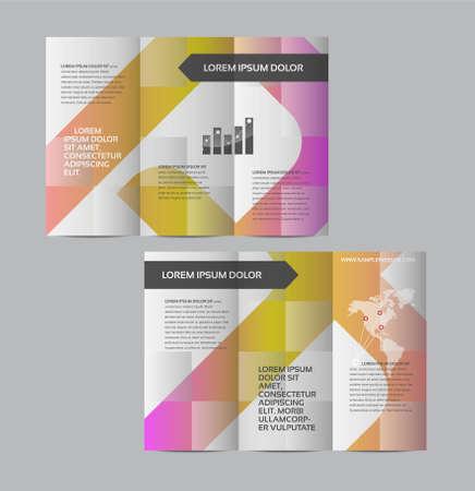 graficos: Gráfico vectorial diseño de folletos de visita abstracta elegante con páginas separadas