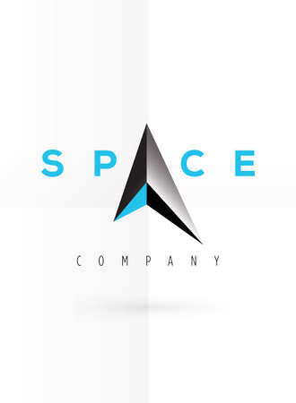sharpness: Vector graphic futuristic silver 3D symbol with sample text