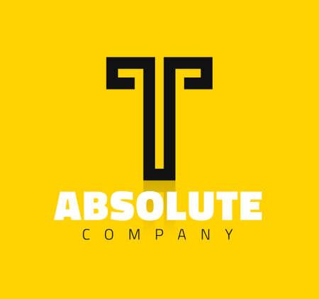 Vector grafische creatieve lijn alfabet symbool  Letter T