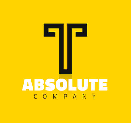 Vector graphic creative line alphabet symbol / Letter T 版權商用圖片 - 46368712