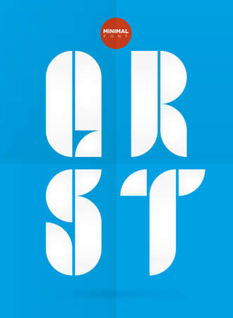 construction firm: Vector graphic decorative design letters in a set Illustration