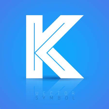 letter k: Vector graphic elegant font with sample text  symbol  alphabet  Letter K Illustration