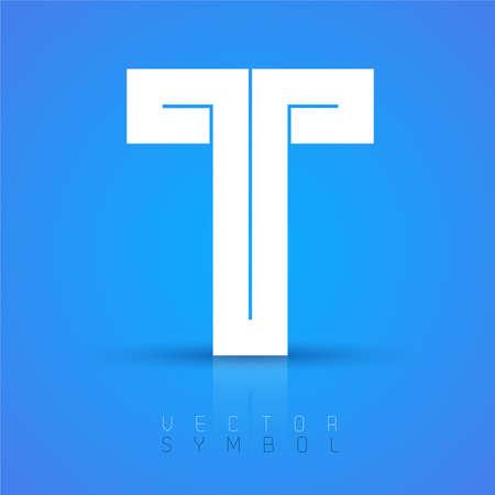 Vector graphic elegant font with sample text  symbol  alphabet  Letter T