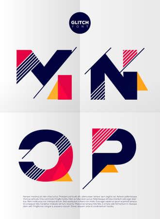 electricidad: Alfabeto tipogr�fico en un conjunto. Contiene colores vibrantes y dise�o minimalista sobre un fondo abstracto m�nima