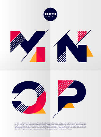 dynamic: Typographic alphabet in a set. Contains vibrant colors and minimal design on a minimal abstract background