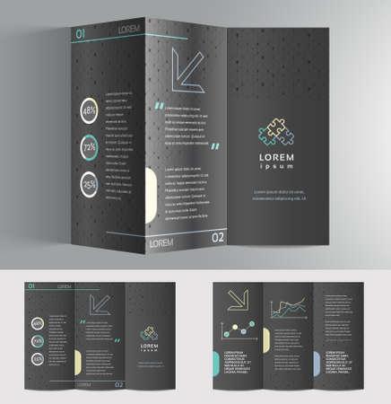 portfolio template: Vector graphic elegant business brochure design for your company in vibrant colors