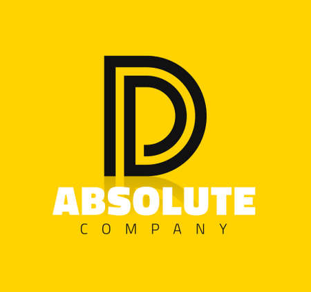 a d: Vector graphic creative line alphabet symbol  Letter D Illustration