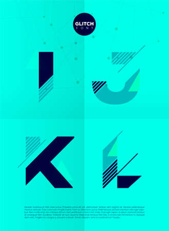 write a letter: Typographic alphabet in a set. Contains vibrant colors and minimal design on a minimal abstract background