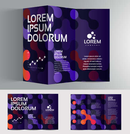 paper art: Vector graphic elegant business brochure design for your company in vibrant colors