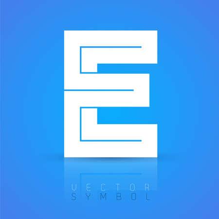 alphabet style: Vector graphic elegant font with sample text  symbol  alphabet  Letter E