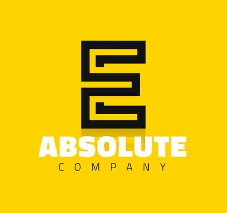 Vector graphic creative line alphabet symbol  Letter E Ilustração