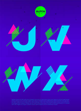 vibrant background: Typographic alphabet in a set. Contains vibrant colors and minimal design on a minimal abstract background
