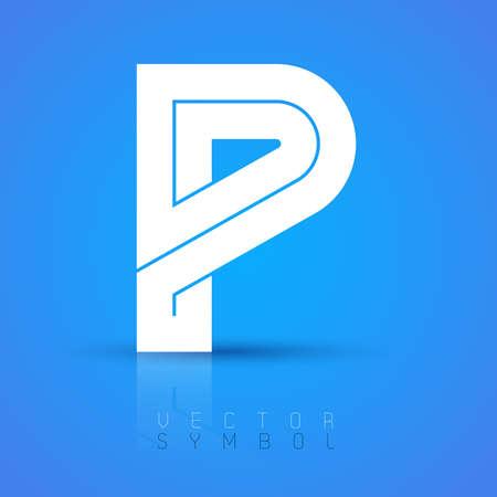 lettres alphabet: Vector graphic police élégante avec un exemple de texte  symbole  alphabet  Lettre P Illustration