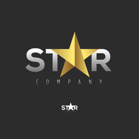 star icon: Vector graphic symbol with stylized star