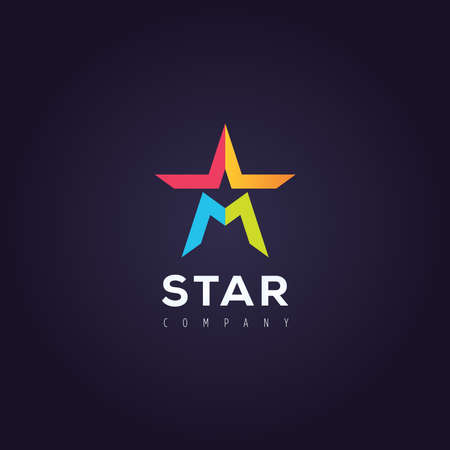 elite sport: Vector graphic symbol with stylized star