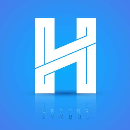 bonito: Gráfico vectorial fuente elegante con texto de ejemplo  símbolo  alfabeto  Letra H