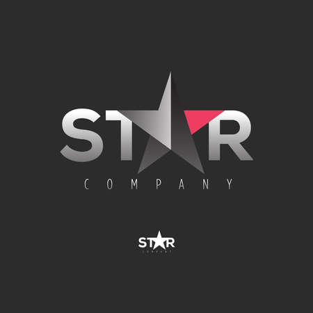 Vector graphic symbol with stylized star