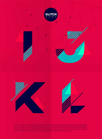 vibrant colors: Typographic alphabet in a set. Contains vibrant colors and minimal design on a minimal abstract background
