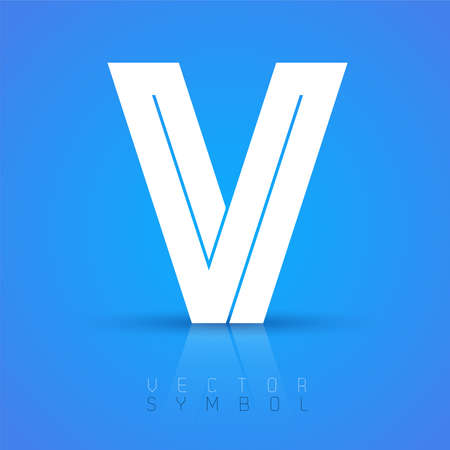 v shape: Vector graphic elegant font with sample text  symbol  alphabet  Letter V Illustration