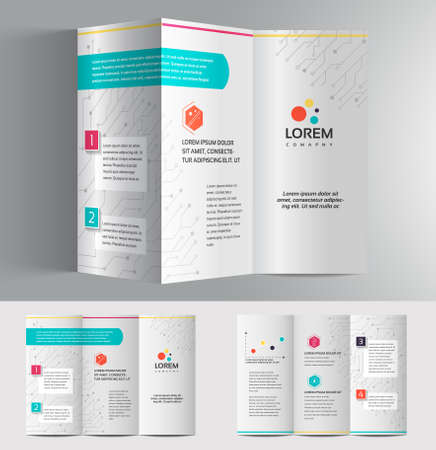 vibrant colors: Vector graphic elegant business brochure design for your company in vibrant colors